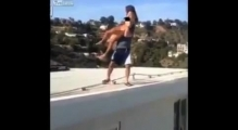 Self styled Instagram king throws a NAKED porn star off a roof