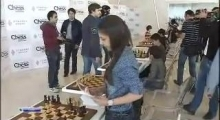 NTV Sport reportage covering Day Off at Shamkir Chess 2014