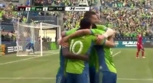 GOAL  Obafemi Martins chips in from impossible angle   Seattle Sounders vs  San Jose Earthquakes