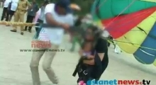 Paragliding baby: shocking video of 11 month old baby forced to paraglide by parents
