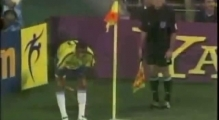 Rivaldo acting fail - World Cup 2002 Oscar winning performance