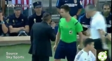 Diego Simeone Sent Off For Patting Linesman On The Head