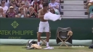 Novak Djokovic Does a Strip Tease on the Court 2015.