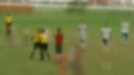 SHOCKING FOOTAGE: Referee pulls out a GUN during football match in BRAZIL (raw)