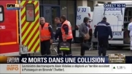 49 Killed in France bus crash Accident -- Lorry And Bus Crash In France - 49 Dead --