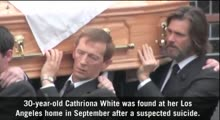 Jim Carrey carries the coffin at ex-girlfriend Cathriona White's funeral