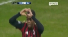 Ac Milan Vs Barcelona 1-1 2013 Goals & Highlights (22-10-2013) (Robinho,Lionel Messi)